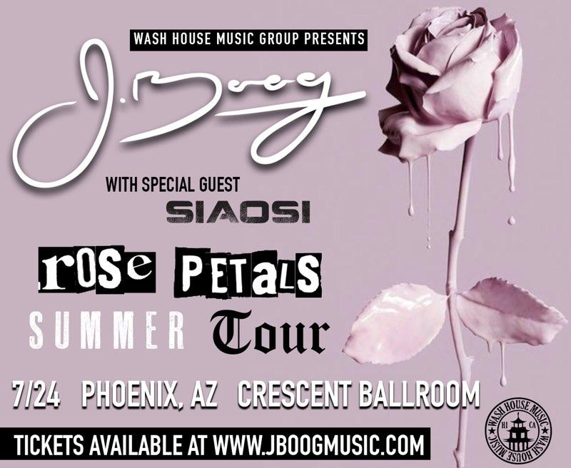 07/24/2019 - Phoenix, AZ - Crescent Ballroom - J Boog Ticketless VIP Meet & Greet Upgrade Package