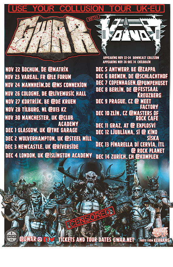 12/11/19 - Graz, AT - Explosiv - GWAR Lords & Masters VIP Experience