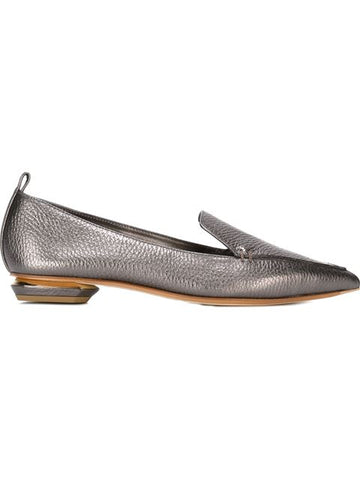 Nicholas Kirkwood Beya Loafer in Pewter Calf 18mm