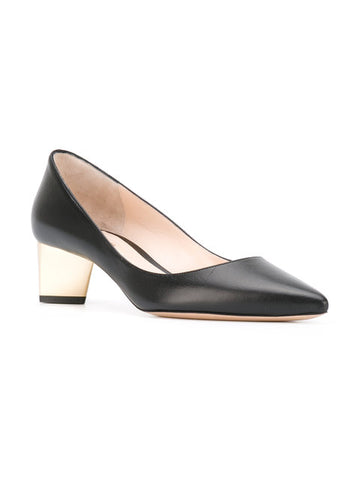 Nicholas Kirkwood Metalic Heel Pumps in Black Nappa