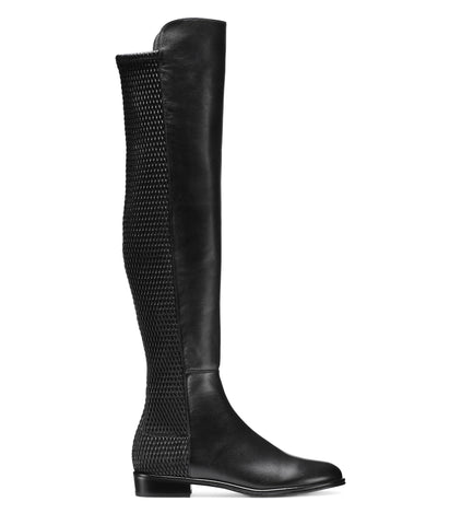 Stuart Weitzman Allgood Over The Knee Boot in Black Nappa