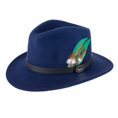 Hicks & Brown Suffolk Fedora Hat (Blue)
