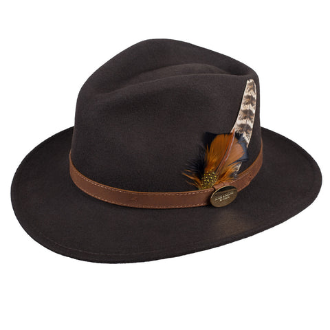Hicks & Brown Suffolk Fedora Hat (Brown)