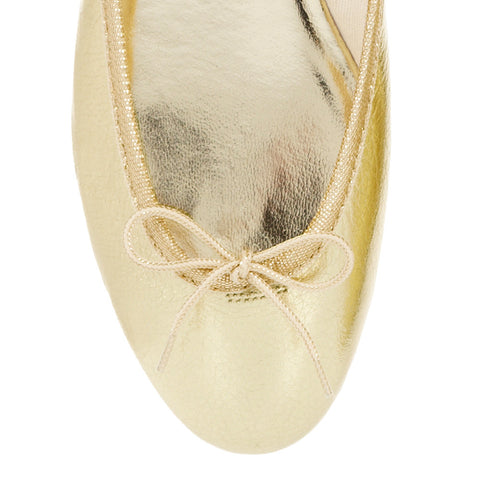 French Sole India Ballet Flats in Gold size 37
