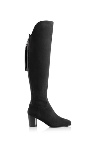Fairfax & Favor Amira Above The Knee Suede Boot in Black