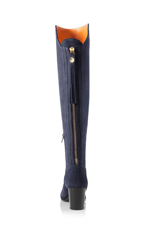 Fairfax & Favor Amira Above The Knee Suede Boot in Navy
