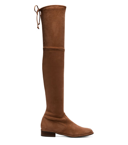 Stuart Weitzman Lowland over-the-knee Boot in Nutmeg Suede