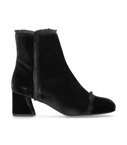 Stuart Weitzman on-the-fringe Black Velvet Ankle Boot
