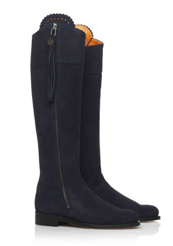 Fairfax & Favor Regina (Navy) Suede Boot
