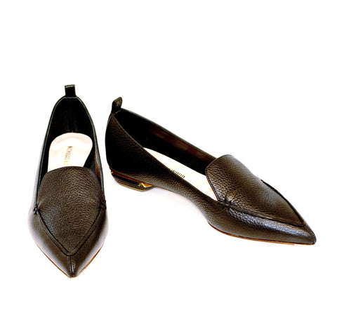 Nicholas Kirkwood Beya Loafer in Black Calf 18mm
