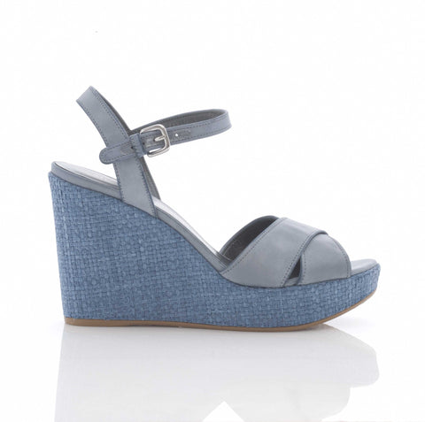 Stuart Weitzman Sundry Wedge in Sky Blue suede