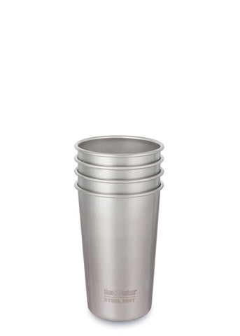 Steel Pint 16oz (473ml) - 4 Pack