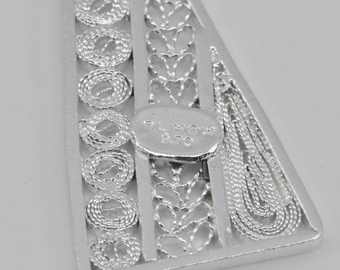 Stamp olmox sterling silver 970 fine filigree jewelry