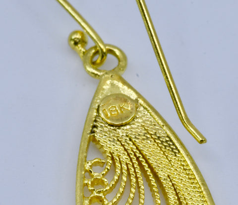 solid gold 18k filigree by olmox jewelry