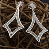 CLAIRE MEDIUM EARRINGS FILIGREE SILVER & GOLD - Olmox