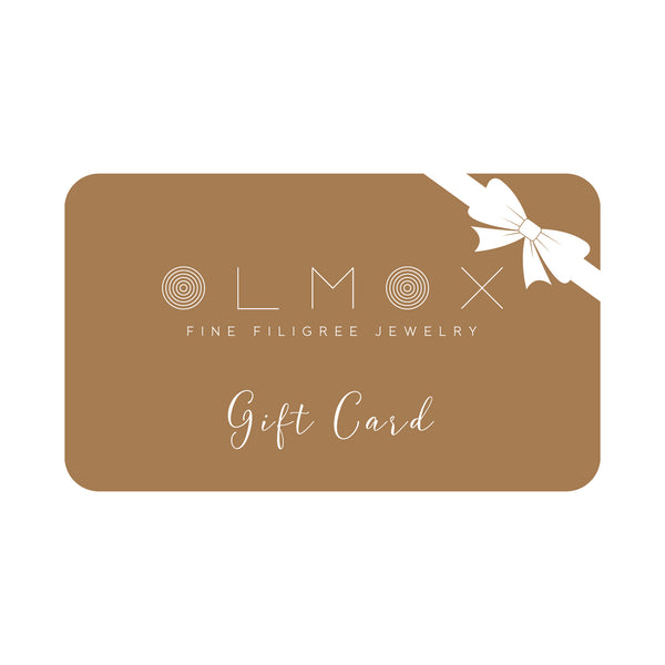 gift card olmox handmade filigree jewelry gifts anniversaries birthday