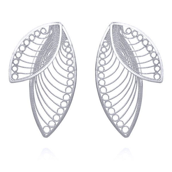 LAUREN EARRINGS SILVER - Olmox