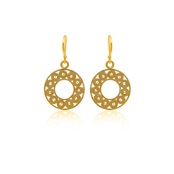 VALENTINA SMALL EARRINGS FILIGREE SILVER & GOLD - Olmox