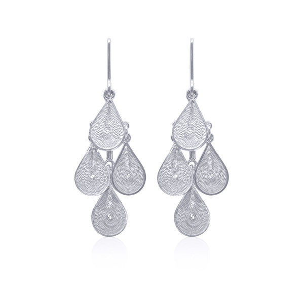 MARGARITA MEDIUM EARRINGS FILIGREE SILVER & GOLD - Olmox