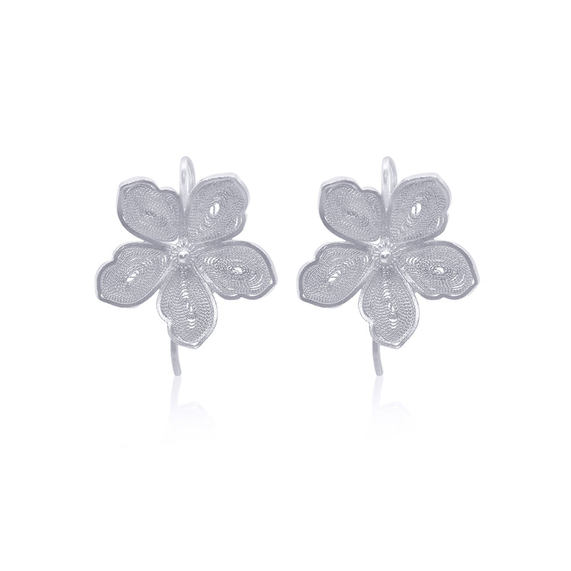 NANCY MEDIUM EARRINGS SILVER - Olmox