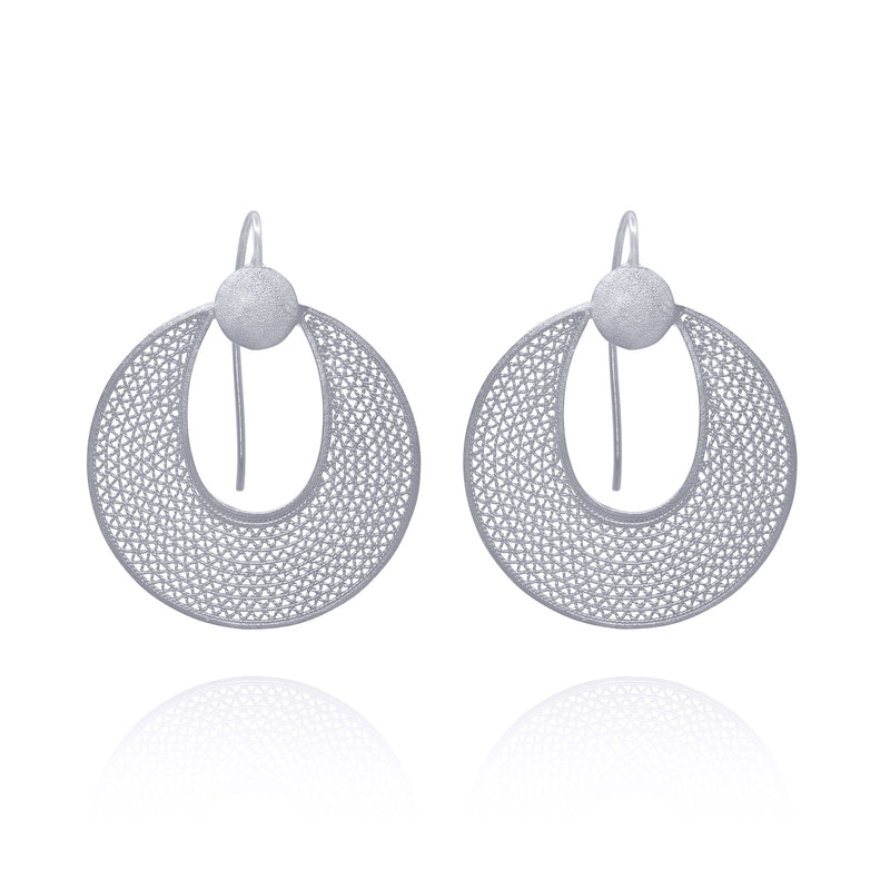 GENEVIVE EARRINGS SILVER - Olmox