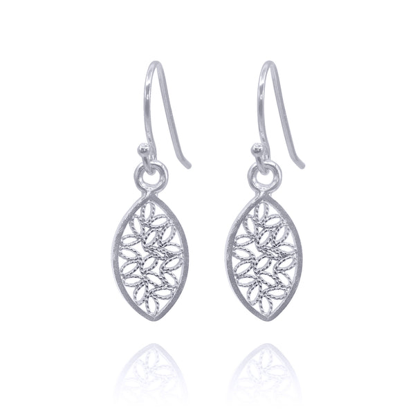 small earrings silver filigree handmade by olmox