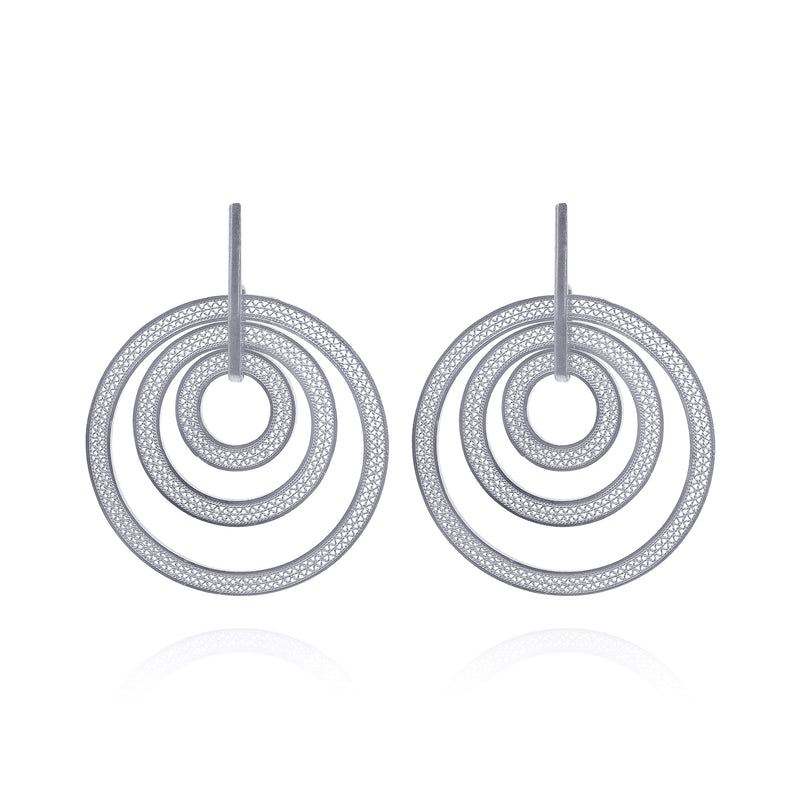 JULIA LARGE EARRINGS SILVER - Olmox