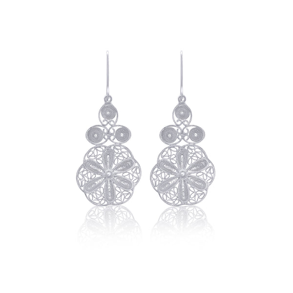SANDRA EARRINGS SILVER - Olmox