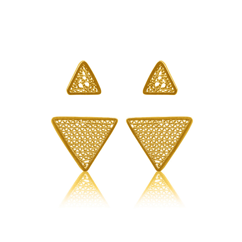 PILI EXTENSION EARRINGS FILIGREE SILVER GOLD - Olmox
