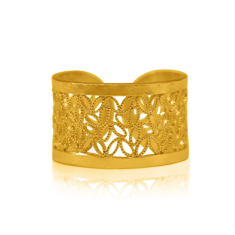 NOGAL RING FILIGREE RING SILVER & GOLD - Olmox