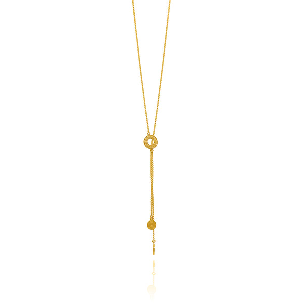 LASSO LONG NECKLACE FILIGREE SILVER & GOLD - Olmox