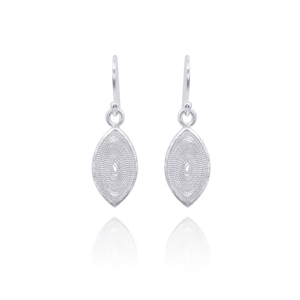 MABELY SILVER SMALL EARRINGS - Olmox