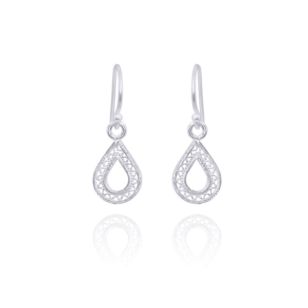 MAKARA SILVER SMALL EARRINGS - Olmox