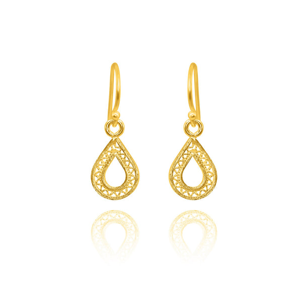 MAKARA SMALL EARRINGS FILIGREE SILVER & GOLD - Olmox