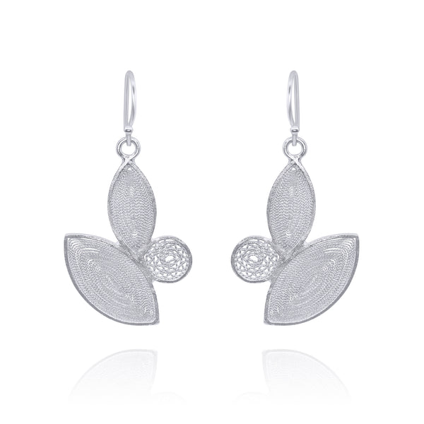 SEEDEL MEDIUM EARRINGS FILIGREE SILVER & GOLD - Olmox