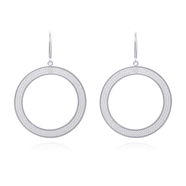 LOLA LARGE EARRINGS SILVER - Olmox