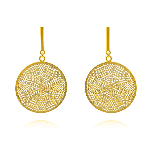 EVELYN LARGE EARRINGS GOLD - Olmox