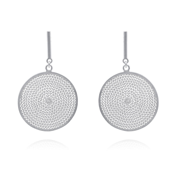 EVELYN LARGE EARRINGS SILVER - Olmox