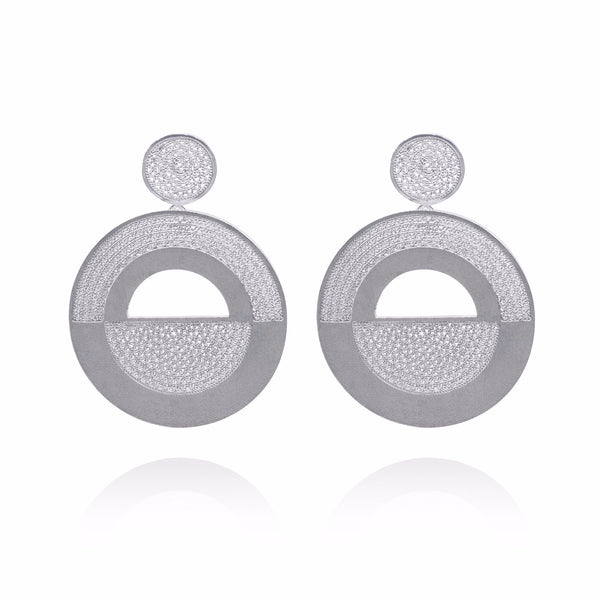 ABIGAIL SILVER EARRINGS - Olmox