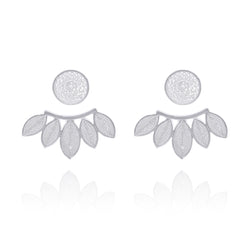 SILVIA + EXTENSION EARRINGS SILVER