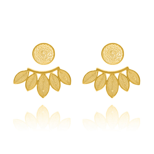 SILVIA EXTENSION EARRINGS FILIGREE SILVER GOLD - Olmox