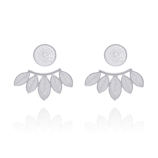 SILVIA  EXTENSION EARRINGS SILVER - Olmox