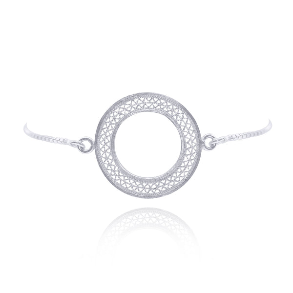 LEXIS SILVER ADJUSTABLE BRACELET FILIGREE - Olmox
