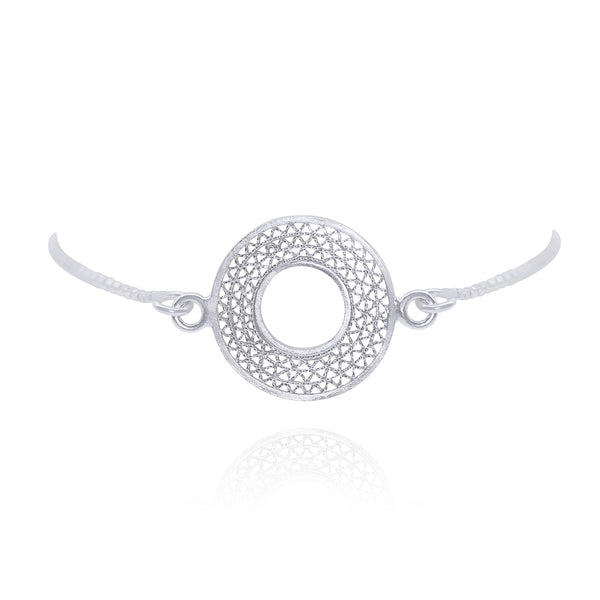 LIBBY ADJUSTABLE BRACELET FILIGREE SILVER & GOLD - Olmox