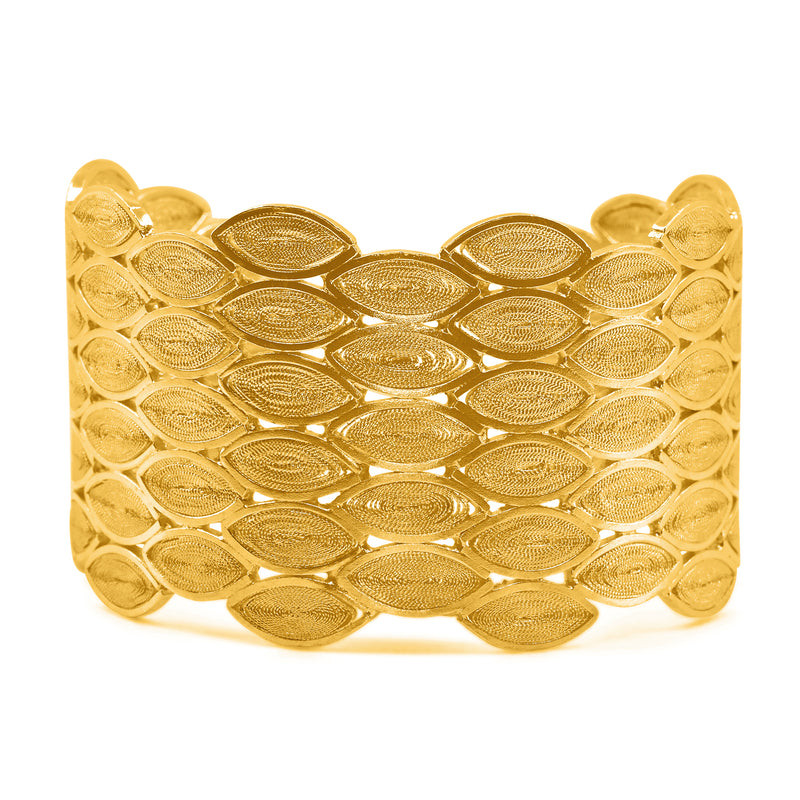 SALOMON CUFF BRACELET FILIGREE & GOLD - Olmox