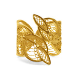 EDITH RING FILIGREE SOLID GOLD 18K - Olmox