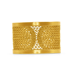 KELLIE RING FILIGREE SOLID GOLD 18K - Olmox