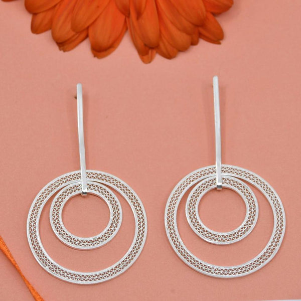 ORINOCO LARGE EARRINGS SILVER - Olmox