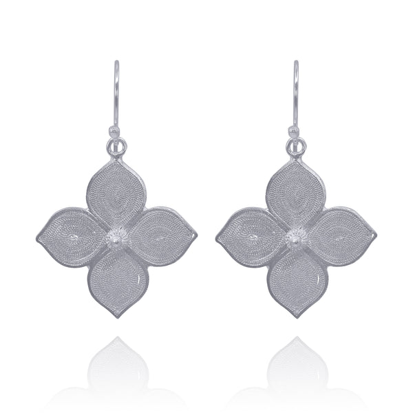 BRENNA SILVER EARRINGS - Olmox