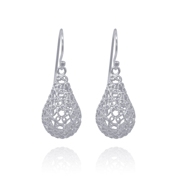 MARTHA MEDIUM EARRINGS FILIGREE SILVER & GOLD - Olmox